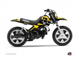Yamaha PW 50 Dirt Bike Vintage Graphic Kit Yellow
