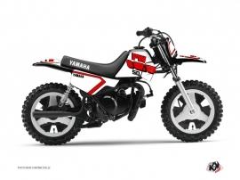 Yamaha PW 50 Dirt Bike Vintage Graphic Kit Red