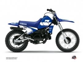 Yamaha PW 80 Dirt Bike Vintage Graphic Kit Blue