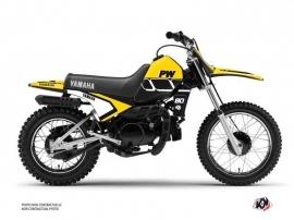 Yamaha PW 80 Dirt Bike Vintage Graphic Kit Yellow