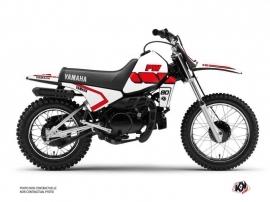 Yamaha PW 80 Dirt Bike Vintage Graphic Kit Red