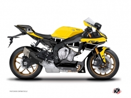 Yamaha R1 Street Bike Vintage Graphic Kit Yellow