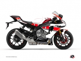 Yamaha R1 Street Bike Vintage Graphic Kit Red
