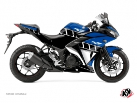 Yamaha R3 Street Bike Vintage Graphic Kit Blue