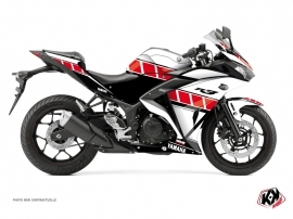Yamaha R3 Street Bike Vintage Graphic Kit Red