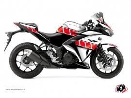 Kit Déco Moto Vintage Yamaha R3 Rouge