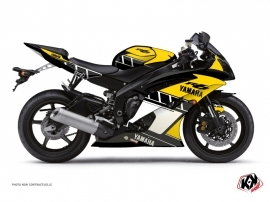 Yamaha R6 Street Bike Vintage Graphic Kit Yellow