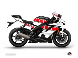 Yamaha R6 Street Bike Vintage Graphic Kit Red