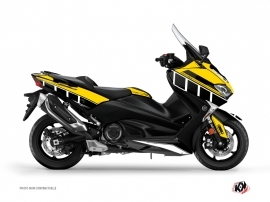 Yamaha TMAX 530 Maxiscooter Vintage Graphic Kit Yellow