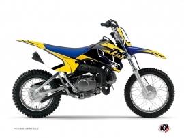 Yamaha TTR 90 Dirt Bike Vintage Graphic Kit Yellow
