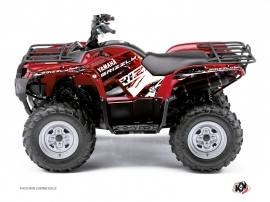 Yamaha 125 Grizzly ATV Wild Graphic Kit Red