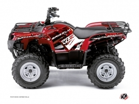 Yamaha 350 Grizzly ATV Wild Graphic Kit Red