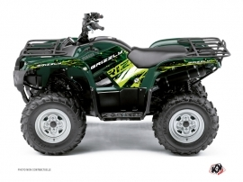 Yamaha 550-700 Grizzly ATV Wild Graphic Kit Green