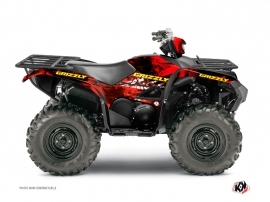 Yamaha 700-708 Grizzly ATV Wild Graphic Kit Red