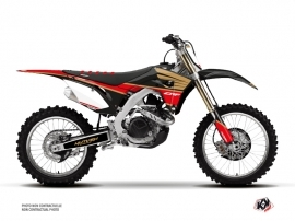 Honda 450 CRF Dirt Bike Wing Graphic Kit Gold