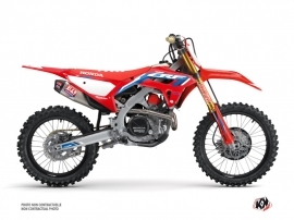 Honda 450 CRF Dirt Bike Works Graphic Kit Blue
