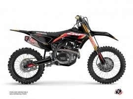 Honda 450 CRF Dirt Bike Works Graphic Kit Black