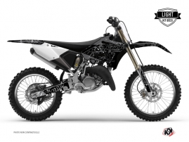 Yamaha 125 YZ Dirt Bike Zombies Dark Graphic Kit Black LIGHT