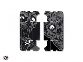 Graphic Kit Radiator guards Zombies Dark Yamaha 125 YZ 2015-2016 Black