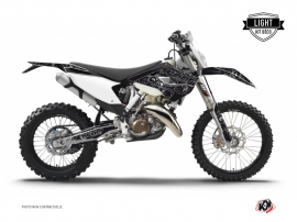 Husqvarna 250 FE Dirt Bike Zombies Dark Graphic Kit Black LIGHT