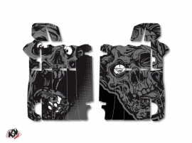 Graphic Kit Radiator guards Zombies Dark Honda 250 CRF 2014-2016 Black