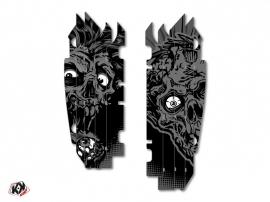 Graphic Kit Radiator guards Zombies Dark Kawasaki 250 KXF 2013-2016 Black