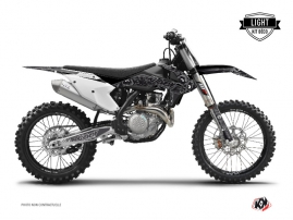 KTM 250 SXF Dirt Bike Zombies Dark Graphic Kit Black LIGHT