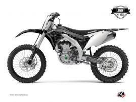 Kawasaki 450 KXF Dirt Bike Zombies Dark Graphic Kit Black LIGHT