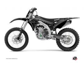 Kawasaki 450 KXF Dirt Bike Zombies Dark Graphic Kit Black