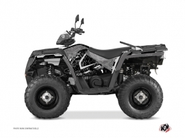 Polaris 450 Sportsman ATV Zombie Dark Graphic Kit Black
