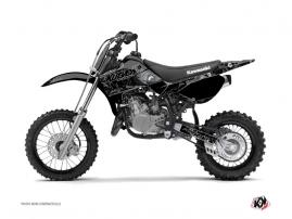 Kawasaki 65 KX Dirt Bike Zombies Dark Graphic Kit Black