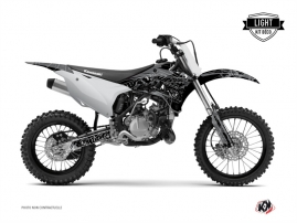 Kawasaki 85 KX Dirt Bike Zombies Dark Graphic Kit Black LIGHT