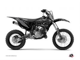 Kawasaki 85 KX Dirt Bike Zombies Dark Graphic Kit Black