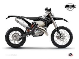 KTM EXC-EXCF Dirt Bike Zombies Dark Graphic Kit Black LIGHT