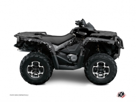 Can Am Outlander 500-650-800 XTP ATV Zombies Dark Graphic Kit Black